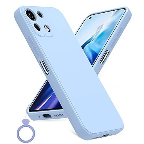 PULEN Cover per Xiaomi Mi 11 Lite 4G / 5G, Silicone Protettiva Custodia Case con Un Squillare, Antiurto, Sottile, Morbida, Elegante - Viola