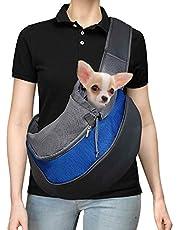 GWL nosidełko dla zwierząt domowych, nosidełko dla psa, torba na ramię dla kota dla zwierząt domowych, regulowany pasek na ramię oddychająca siatka z przednią kieszenią do noszenia dla psa, bez użycia rąk torby na ramię dla zwierząt domowych