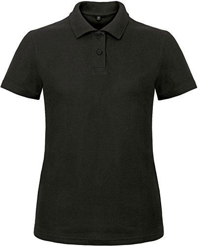 B&C: Ladies` Piqué Polo Shirt ID.001 Women PWI11, Größe:3XL;Farbe:Black