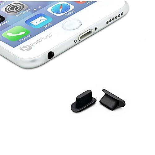KRS - DP- kompatibel mit iPhone 5 5S 5SE 6 6S 6+ 7 7 Plus / 8 8 Plus X Xr Xs 11 12 min Pro max Gummi Staubschutz Schutz Stöpsel Kappe (2xDP-5)