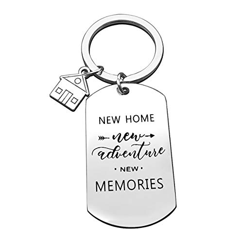 For New Home Keychain New memories Keyring First Home Gift Housewarming Gift Realtor Closing Gifts House Keyring Moving in Key Chain for New Home Owners Jewelry First Home Keychain