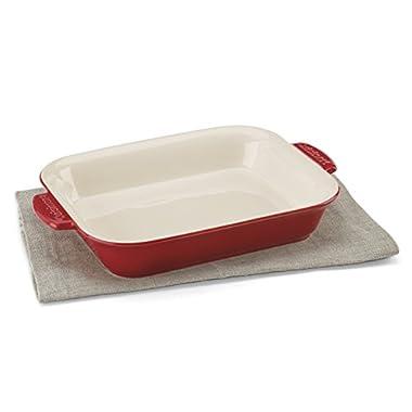 Cuisinart CCB30-27R Chef's Classic Ceramic Bakeware-2 Quart Medium Rectangular Baker, Red