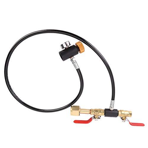 Zerodis Adaptateur de Recharge de CO2 à Filetage européen W21.8-14 avec Tuyau de 36 Pouces avec jauge Kit de connecteur de Station de Recharge de CO2 pour remplir Les Accessoires de pièces