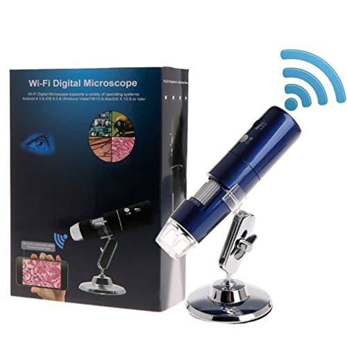 CarDVR 1000x digitale handmicroscoop vergrootglas camera 2MP Full HD 1080P / WiFi voor iPhone iOS Android iPad ingebouwde oplaadbare lithiumbatterij met 8 LED-lampen, blauw