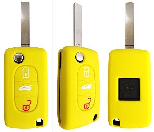 CK + Peugeot Auto de llave móvil Key Cover Case Funda Silicona para 2073073085008