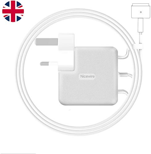 Nicewire Compatible With MacBook Air Charger,45W Magsafe 2 Magnetic T-Tip Power Adaper Charger, Replacement With MacBook Air 11-inch 13-inch - Mid 2012, 2013, 2014, 2015, 2017 2018 Models A1465 A1466