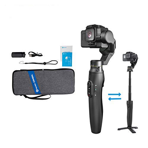 FeiyuTech Vimble 2A 3-Axis Gimbal Stabilizer Telescoping Handheld for Action Camera GoPro Hero 7/6/5/4, Supports WiFi Control,with Mini Tripod