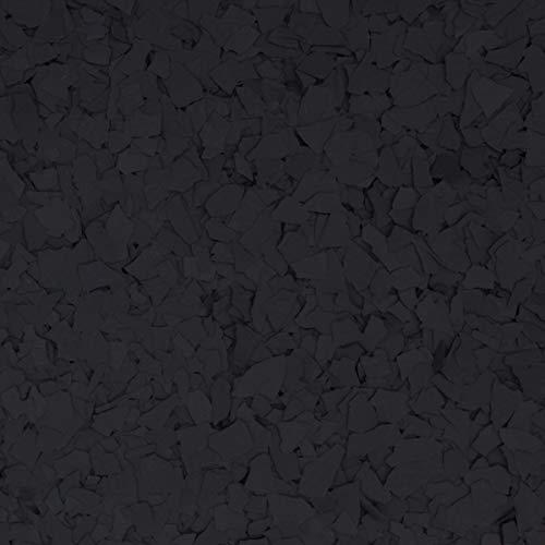 The Original Color Chips Decorative Floor Coating Flakes, Black, 1/4