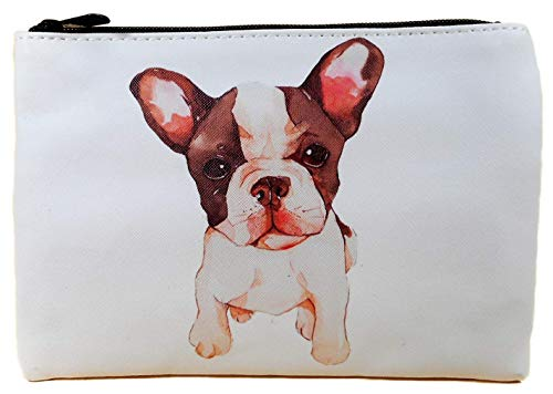 Monedero de bulldog francés, 22 x 15 cm, para perro o playa, bolso cosmético, decoración F49