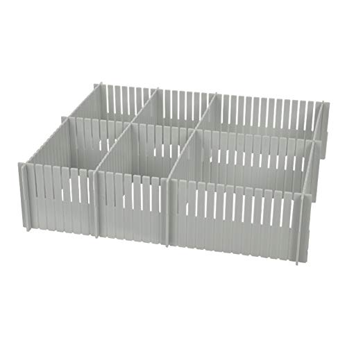 YYDDZ 3pcs DIY Drawer Divider,Plastic Grid Drawer Separator Household Storage Box Tidy Organizer Container Best for Kitchen,Dresser,Bedroom,Bathroom-F 55x8.2x0.2cm(22x3x0)