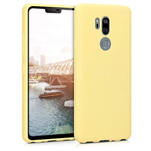 kwmobile Hülle kompatibel mit LG G7 ThinQ/Fit/One - Hülle Handyhülle - Handy Hülle in Gelb matt