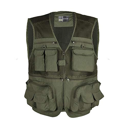 LOOGU Outdoor Fly Fishing Vest with Multi-Pockets For Fishing,Hunting,...