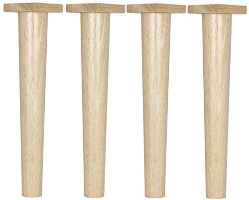 Ausstattung Möbelbeine Möbelbeine Sessel Nachttisch Couchtisch TV-Schrankbeine Massivholzmaterial 11 cm bis 76 cm