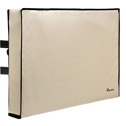 Outdoor TV Cover 40, 42, 43 inch - Universal Weatherproof Protector for Flat Screen TVs - Fits Most TV Mounts and Stands - Beige