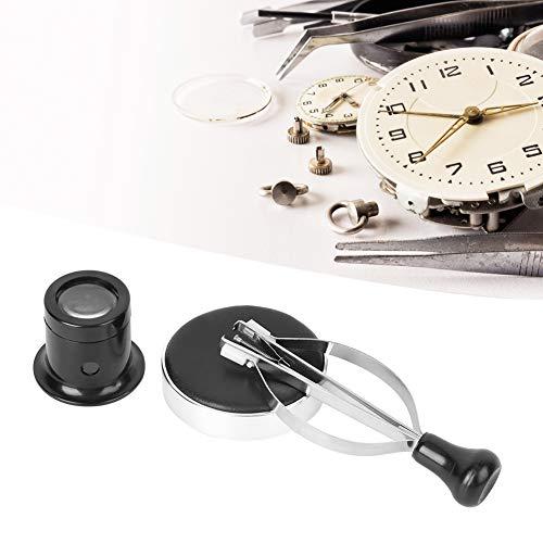 Weikeya Juego de herramientas de reparación de relojes de aumento, herramienta de reemplazo de batería con ABS y aluminio