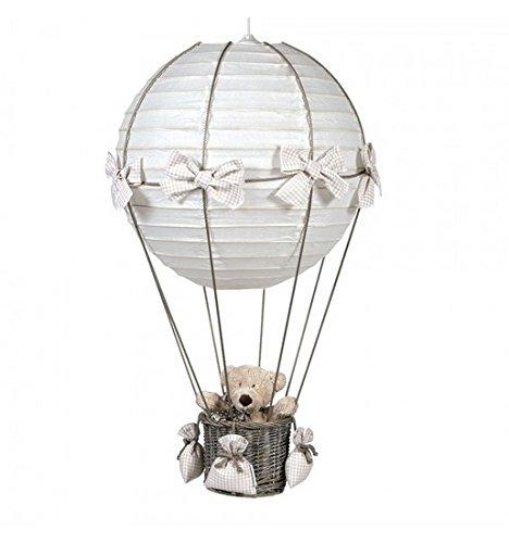 Pasito a Pasito Vichy - Lampada a Forma di Mongolfiera, Colore: Beige