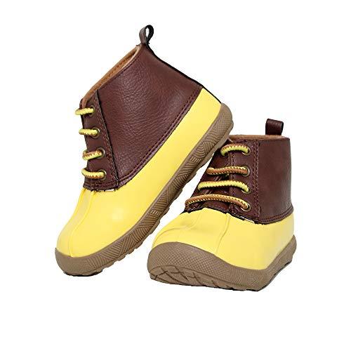 Baby Deer Jude Duck Boot Rain, Yellow, 5