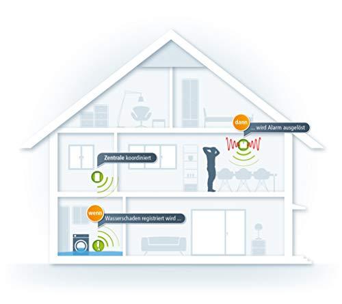 devolo Home Control Wassermelder-Paket (Smarthome Einsteigerpaket, Z-Wave, Haussteuerung per iOS/Android App, einfache Installation, enthält: Zentrale, Alarmsirene und Wassermelder) weiß - 6