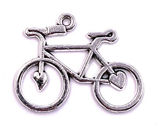 H-Customs Love Bike Fahrrad Herzen Charm Anhänger Kettenanhänger Bastelbedarf Schmuck