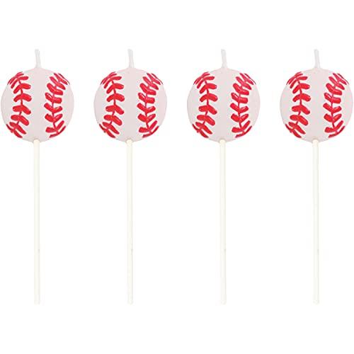 Creative Converting 4 Count Sports Fanatic Baseball Shaped Pick Candles -