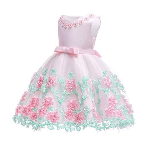 2019 Spitze Paillette formales Abend Brautkleid Tutu Prinzessin Kleid-Blumen-Mädchen-Kind-Kleidung-Kind-Partei für Mädchen-Kleidung,C,150CM
