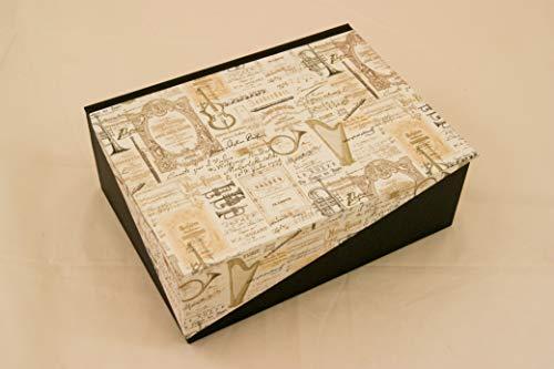A5 Kästchen mit Zierecke, Musik, Geschenkverpackung, Prägung möglich,