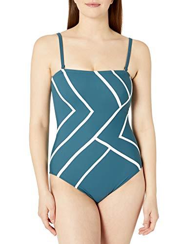 Gottex Women's Bandeau One Piece Swimsuit, Mirage Teal, 10