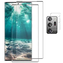 """【Support In-Screen Fingerprint ID & Designed for Ultrasonic Fingerprint】 High touch sensitivity gives """"True Touch"""" feel, ultrasonic screen fingerprint, which allows for high phone responsiveness.A Camera Lens Protector as a free extra gift to prevent..."""