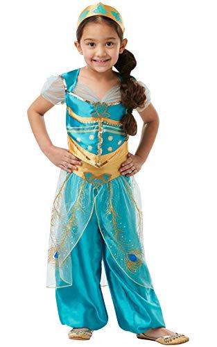 Rubie's Costume ufficiale Jasmine Disney Live Action Aladdin per bambina (300297-L) 7-8 anni, Multicolore, Large