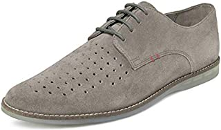 TONI ROSSI Men's Walter Grey Leather Formal Shoes