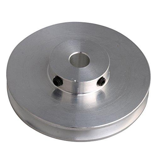 Bqlzr, Riemenscheibe, Aluminiumlegierung, 8 mm, feste Bohrung, für Bohrmaschinen, 3-5 mm PU-Rundriemen, 58 x 16 x 8 mm, silberfarben