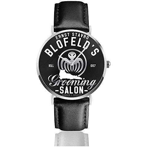Unisex Business Casual Ernst Stavro Blofeld Pflege Salon James Bond Spectre Uhren Quarz Leder Uhr