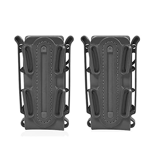 Tanmo 9mm Magazine Pouch Fast Mag Carrier Molle System Quick Pull Elastic Clip Case