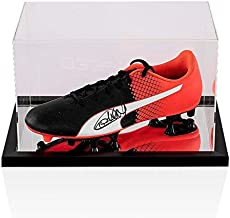 Thierry Henry Signed Football Boot Puma - In Acrylic Display Case Autograph - Autographed Soccer Cleats