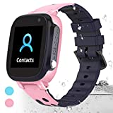 HuaWise Kids smartwatch, GPS Anti-Lost Waterproof Smart Watch with Real-time Position Tracker,Touch Screen SOS Call Geo-Fence Camera Alarm for Boys and Girls