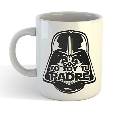 Muy Chulo Taza Yo Soy Tu Padre Dia del Padre Star Wars - Taza cerámica 350ml - Frase Divertida Darth Vader Regalo Sopresa para papá Dia del Padre o cumpleaños
