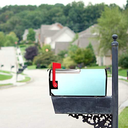 LONGYUU Retro-Vintage Orange Tv Standardgröße Original Magnetic Mail Anschreiben Briefkasten 21 x 18 Zoll Mailbox Dekorationen Magnetic Mailbox Covers Sommer Mailbox Decor