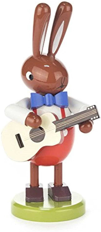Hase mit Gitarre gro - Dregeno Erzgebirgische Holzkunst - Artikel 224 549