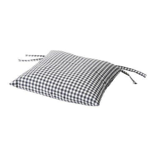 IKEA INNA Stuhlkissen in grau/weiß; (40x40x7cm)