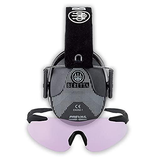 BERETTA Standard Glasses Earmuff, Black/Purple, One Size