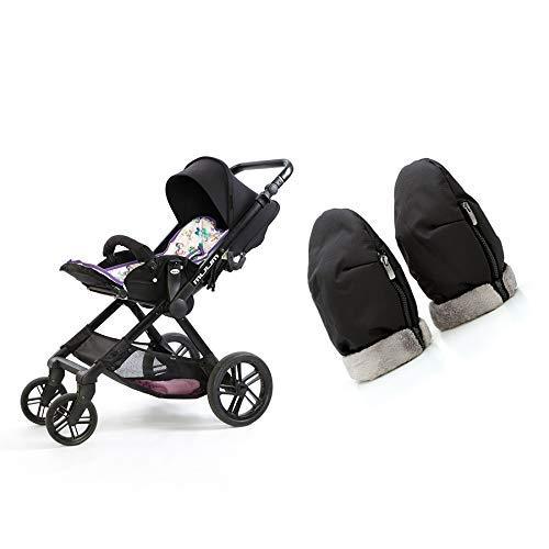 Manoplas para carro de bebé   Guantes de protección contra el frío y lluvia de carro de bebé   Manoplas impermeables de invierno para pasear con el bebé
