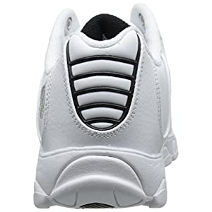 K-Swiss mens St329 Cmf Sneaker, White/Black/Silver, 9.5 US