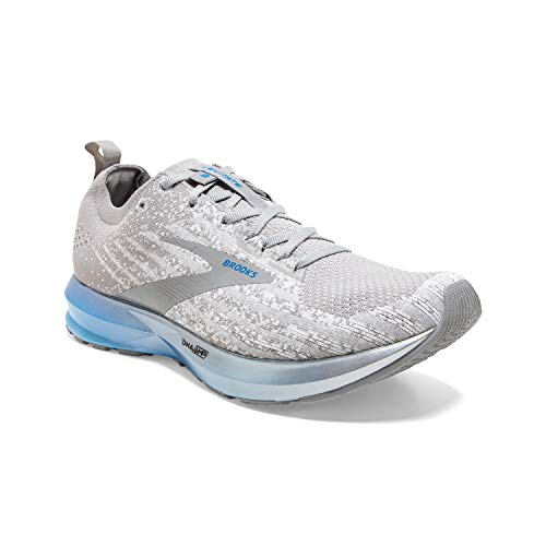 Brooks Mens Levitate 3 Running Shoe - White/Grey/Blue - D - 13.0