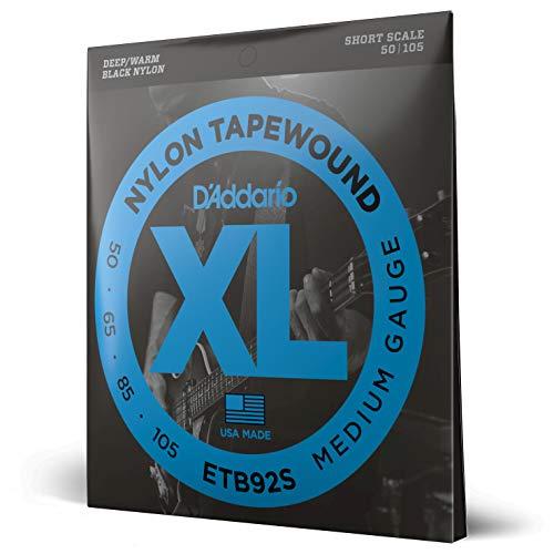 D'Addario Medium 50-105 Tapewound Short Scale Bass Guitar Strings