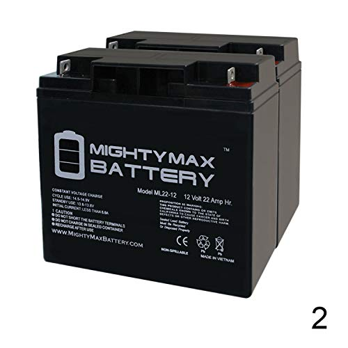 Mighty Max Battery 12V 22AH Replaces Pride GoGo Elite Traveler Plus MKB ES17 12-2 Pack Brand Product