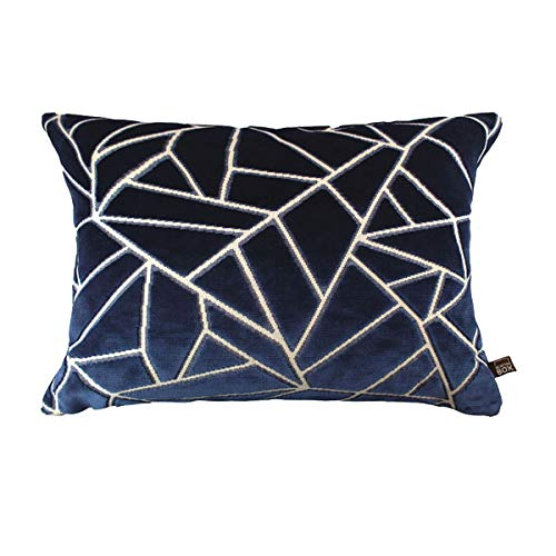 Scatter Box Veda Velour Feather Filled Cushion, Navy, 35 x 50 Cm