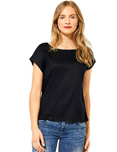 Street One Damen 341981 Blusenshirt Bluse, Black, 38