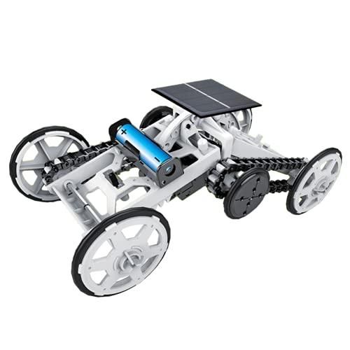 Uxsiya Coche eléctrico de juguete para acrobacias, potente coche de escalada 4 WD teledirigido auto RC coche de oruga alimentado por energía solar coche juguete juguete para niños regalo