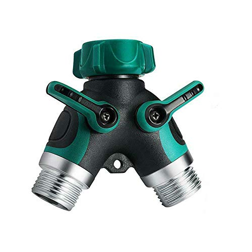 Review Garden Hose Splitters,New-Hi 2 Way Hose Connector Splitter Adapter On/Off Lever for Garden Y ...