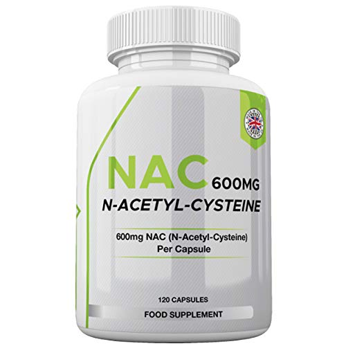 NAC Supplement (600mg) - 120 Capsules | N-Acetyl-Cysteine Amino Acid - UK Made